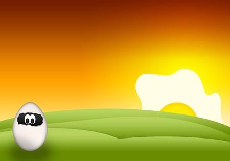 ostern lustig: Cartoon lustige Ostern Eier auf abstrakten Hintergrund Lizenzfreie Bilder