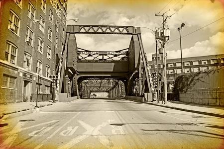 vintage grunge image: Vintage Design - Chicago Archivio Fotografico