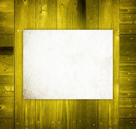 Empty Board on wooden Background photo