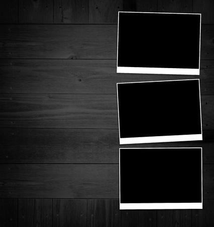 Pictures on black desk Zdjęcie Seryjne