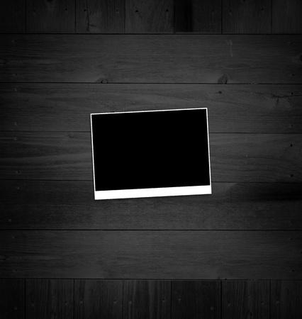 Pictures on black desk photo