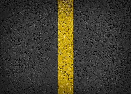 Asphalt Background with yellow stripe