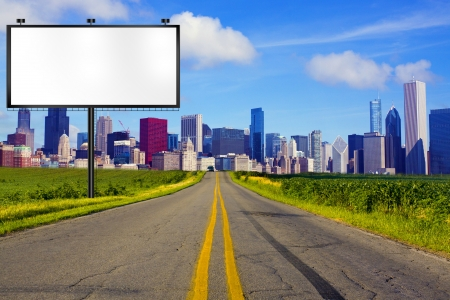 the road surface: American Road with Billboard