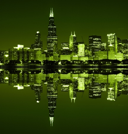 Chicago on St Patrick Stock Photo