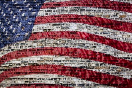 Flag on Urban Background Stock Photo - 12569439