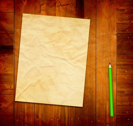 Empty Template on wooden Background  photo