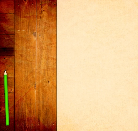Empty Template on wooden Background Stock Photo - 12829797