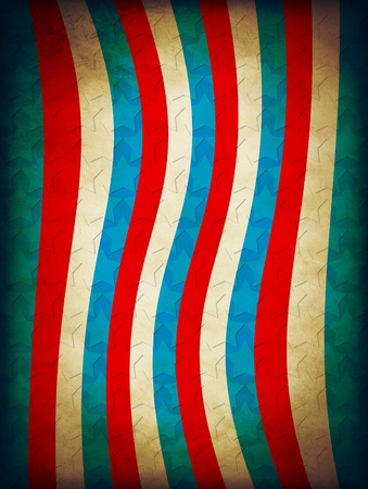 4th July Design Vintage Poster Stock Photo - 12829774