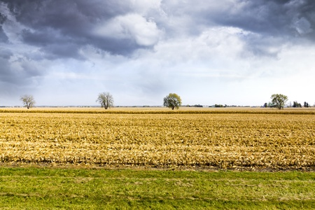 American Country with stormy sky  photo