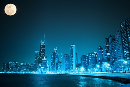 commercial real estate: Chicago by night