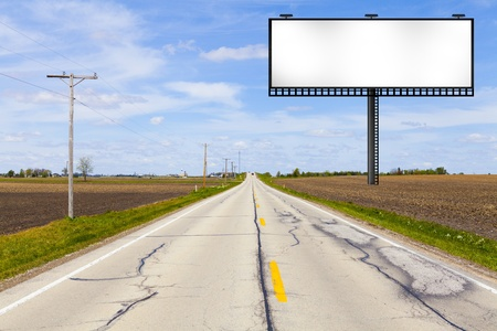 Big Metal Advertising Billboard Sign  版權商用圖片