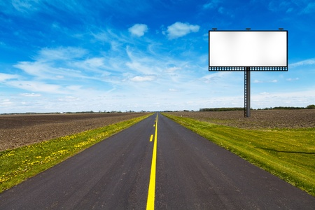 Big Metal Advertising Billboard Sign  Stock Photo