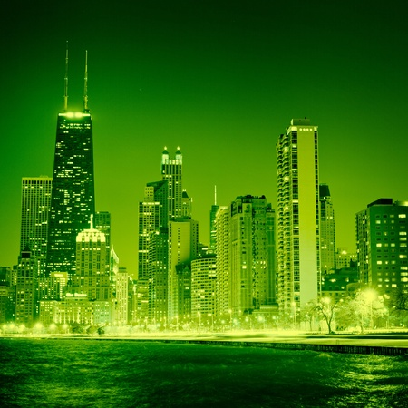 Chicago on St Patrick's Day  Stock Photo - 13418175