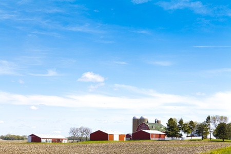 Amerikaanse Platteland Landschap Stockfoto