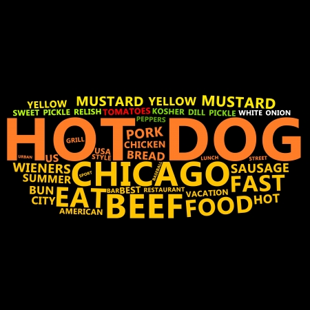 Hot Dog Text Cloud Stock Photo - 13682468