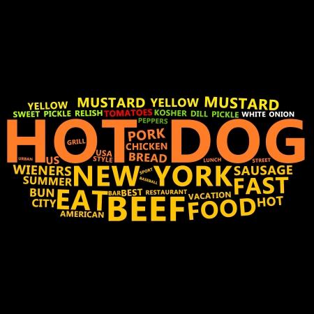Hot Dog Text Cloud Stock Photo - 13682467