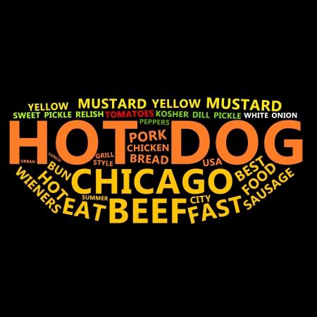 Hot Dog Text Cloud Stock Photo - 13682465