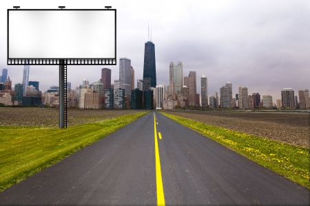 Country Road with Billboard photo