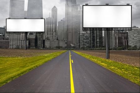 ビルボードの国の道路 写真素材