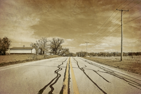 American Country Road - Vintage Design photo