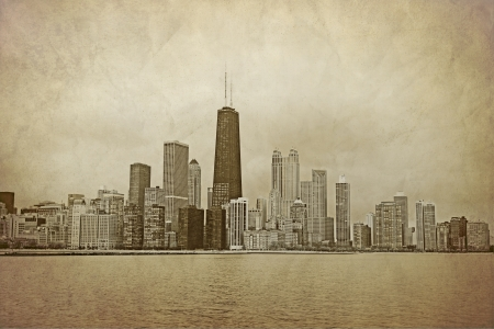 postcard: Chicago - Vintage Design