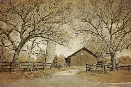 Amerikaanse Platteland - Vintage Design Stockfoto