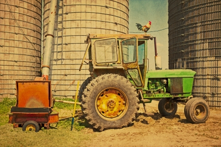 iowa agriculture: Tractor Stock Photo