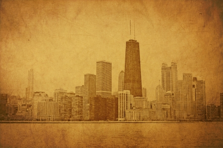 Vintage Chicago Stock Photo - 14245043