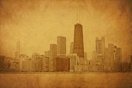 vintage postcard: Vintage Chicago