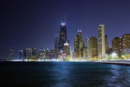 Chicago Lake Shore Drive at Night photo