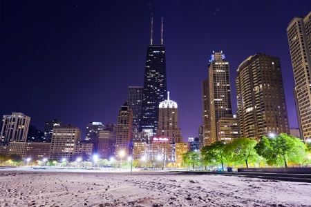 commercial real estate: Chicago Lake Shore Drive at Night