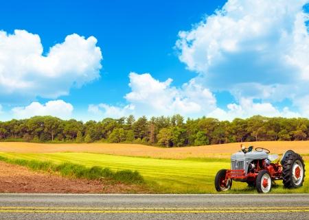 granja avicola: Granja con cielo nublado azul