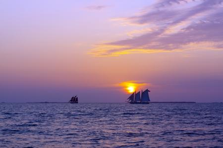 nautical background: Sailing Boats Stock Photo