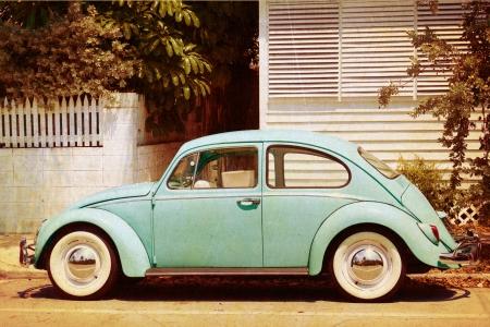 vintage car: Old Car Poster Stock Photo