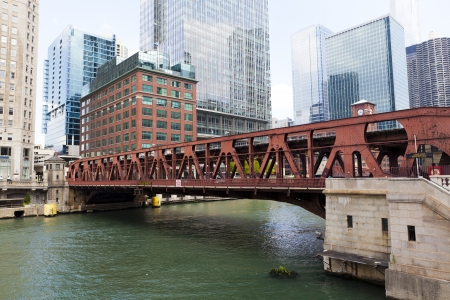 Bridge in Chicago photo