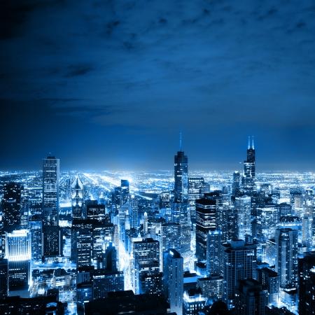 シカゴの空撮 写真素材