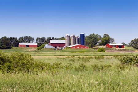 American Traditional Red Big Farm Stock Photo - 14802795