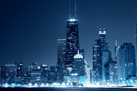Chicago Downtown in the night