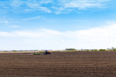 field on summer day in american country  photo