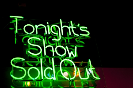 Tonights Show Sold Out Neon