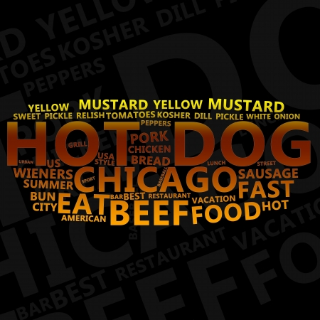 Hot Dog Text Cloud Stock Photo - 14885487