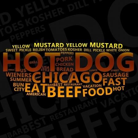 originative: Hot Dog Text Cloud