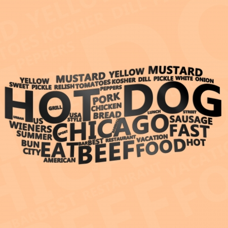 Hot Dog Text Cloud  Stock Photo - 14885471