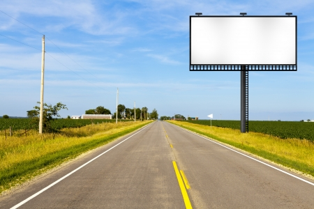 road surface: Billboard on Country Road