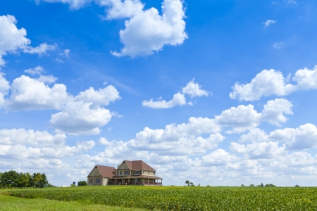 Countryside Home With Cloudy Sky photo