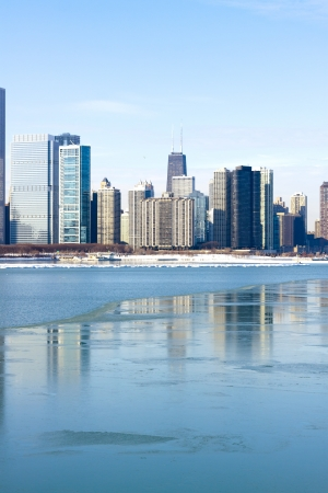 View on downtown Chicago (Winter)  photo