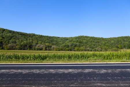 American Country Road Side View Stok Fotoğraf - 15277752