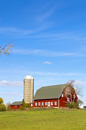 American Countryside With Blue Sky