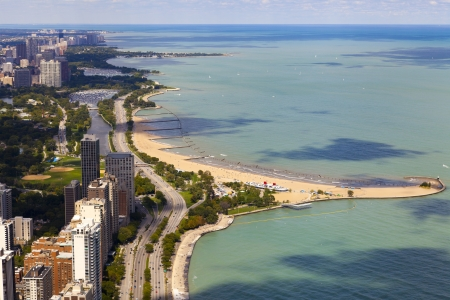 Chicago Lake Shore Drive Aerial View  photo