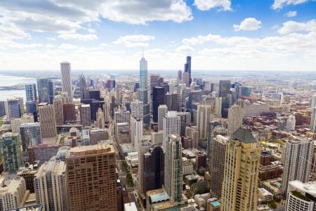 городской пейзаж: С высоты птичьего полета (Chicago Downtown)